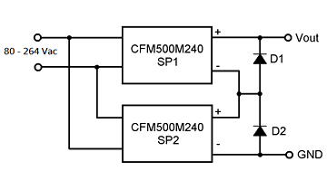 CFM500M240 Connected in Series