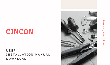 Cincon User Installation Manual Release