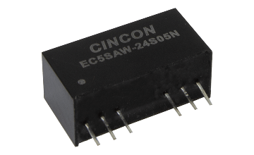 Cincon releases new 10 watts, 3KV High Isolation regulated DC-DC converter EC5SAW series